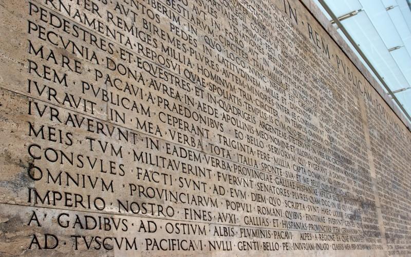 Roman Inscription on a wall