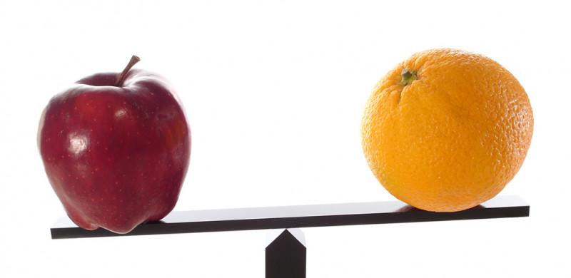 Metaphor compare apples to oranges