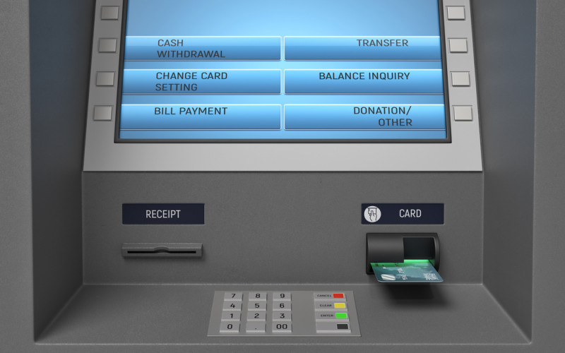 ATM Machine Kiosk Screen