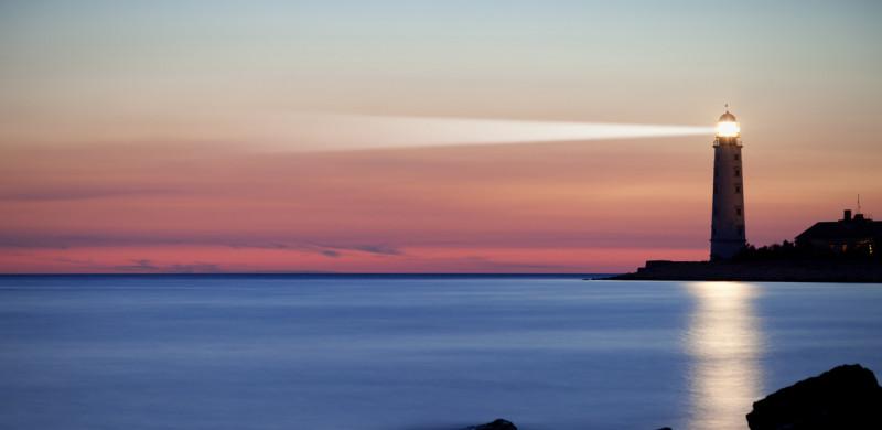 A lighthouse on the coast