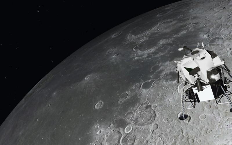 Lunar Module near the moon