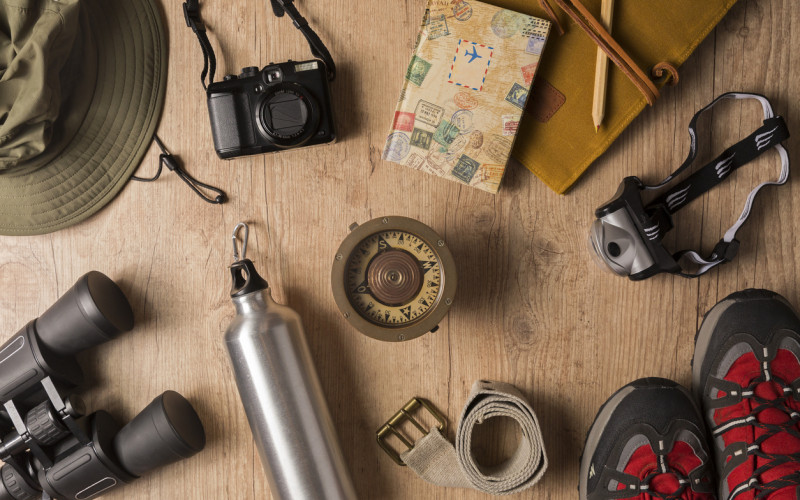 Are you Prepared - Overhead view survival equipment