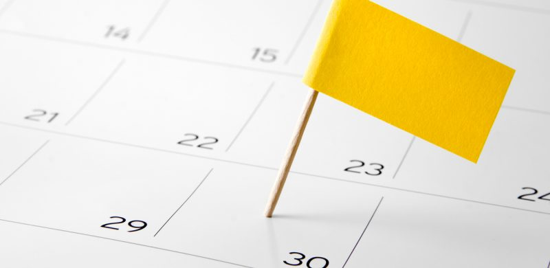 Flag the event day or deadline on calendar