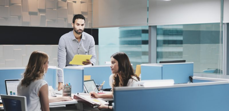Employees ignoring coworker
