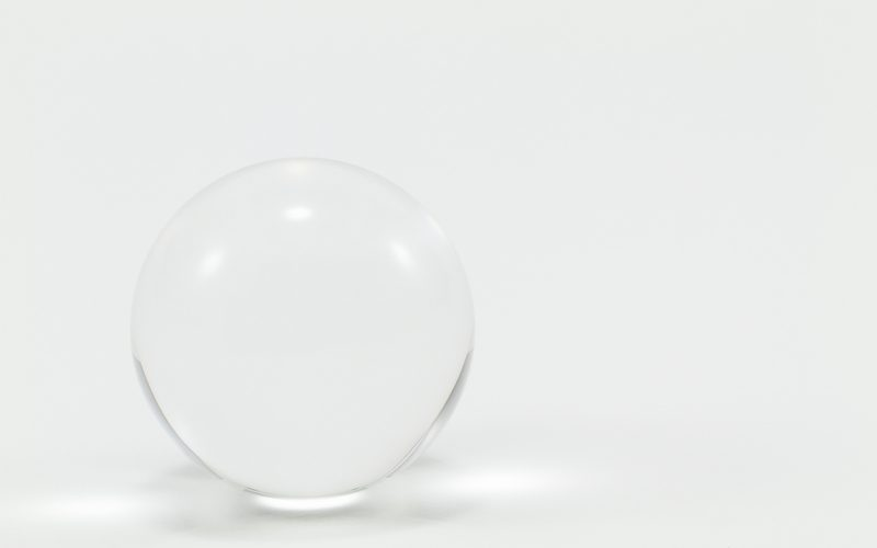 Clear marble