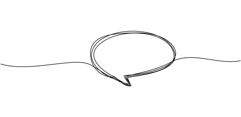 Continuous line drawing of speech bubbles. price tags, stickers, posters, badges, greeting bubble shaped banners in black and white single line Isolated on white background